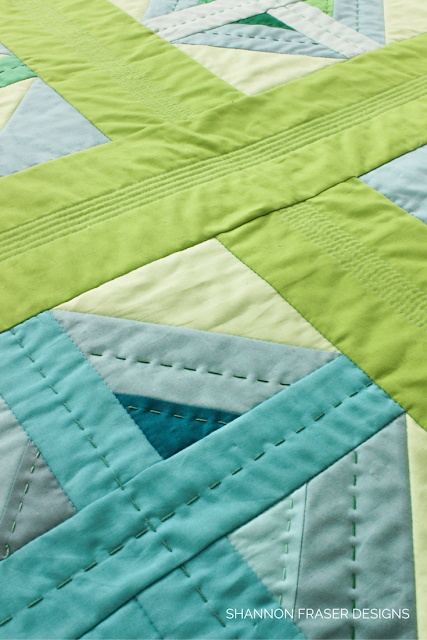 Plus Infinity Mini Quilt Pattern | Quick & Easy Weekend Project | Shannon Fraser Designs | Modern Quilt Pattern | DIY | Quilted Wall Hanging | Baby Quilt | Big Stitch Hand Quilting