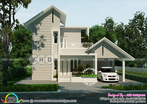 House rendering - this house can be built in Rs,20 lakhs (August 2020)