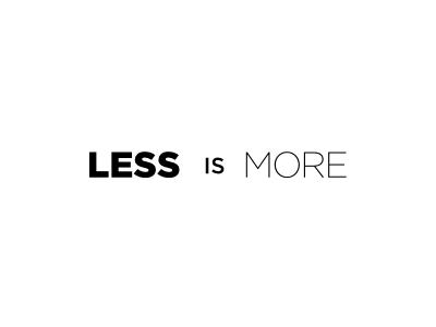the way 仕事の生き方 less is more