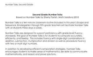 Math Resources for Second Grade: Number Talks