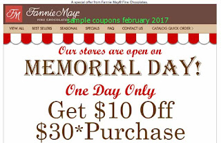 free Fannie May coupons february 2017