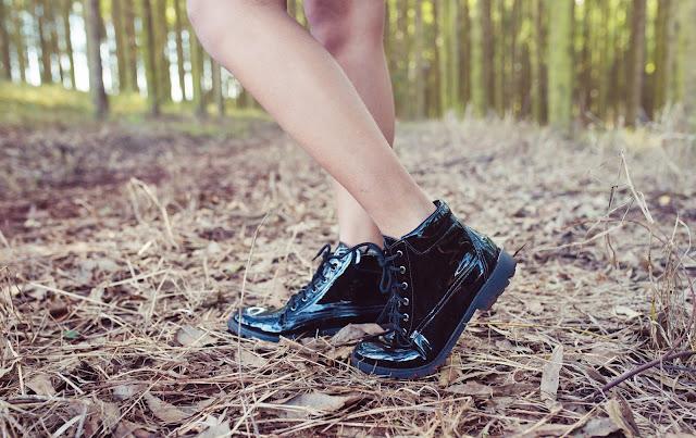 fotos de look sapato verniz