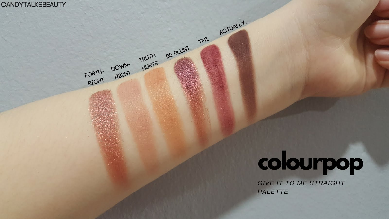 Give It To Me Straight Eye Shadow Palette  by Colourpop #13