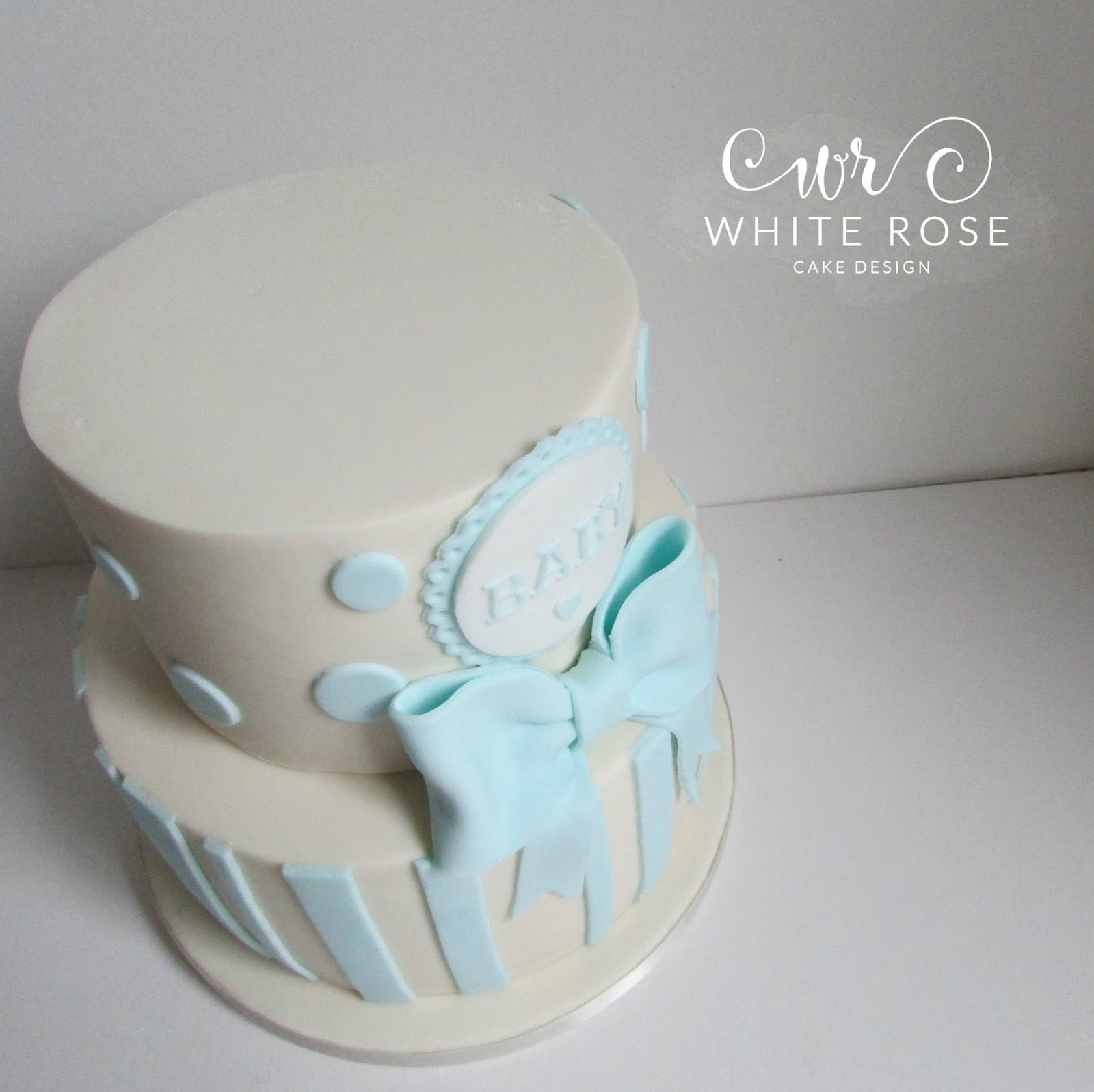 It S A Boy Baby Shower Tiered Cake White Rose Cake Design