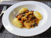 Pan-Roasted Halibut with Clamshell Mushrooms & Lemon Butter Sauce – Long in Name, Short in Shopping List