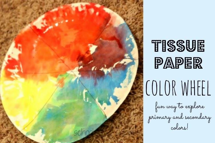 Tissue Paper Color Wheel activity