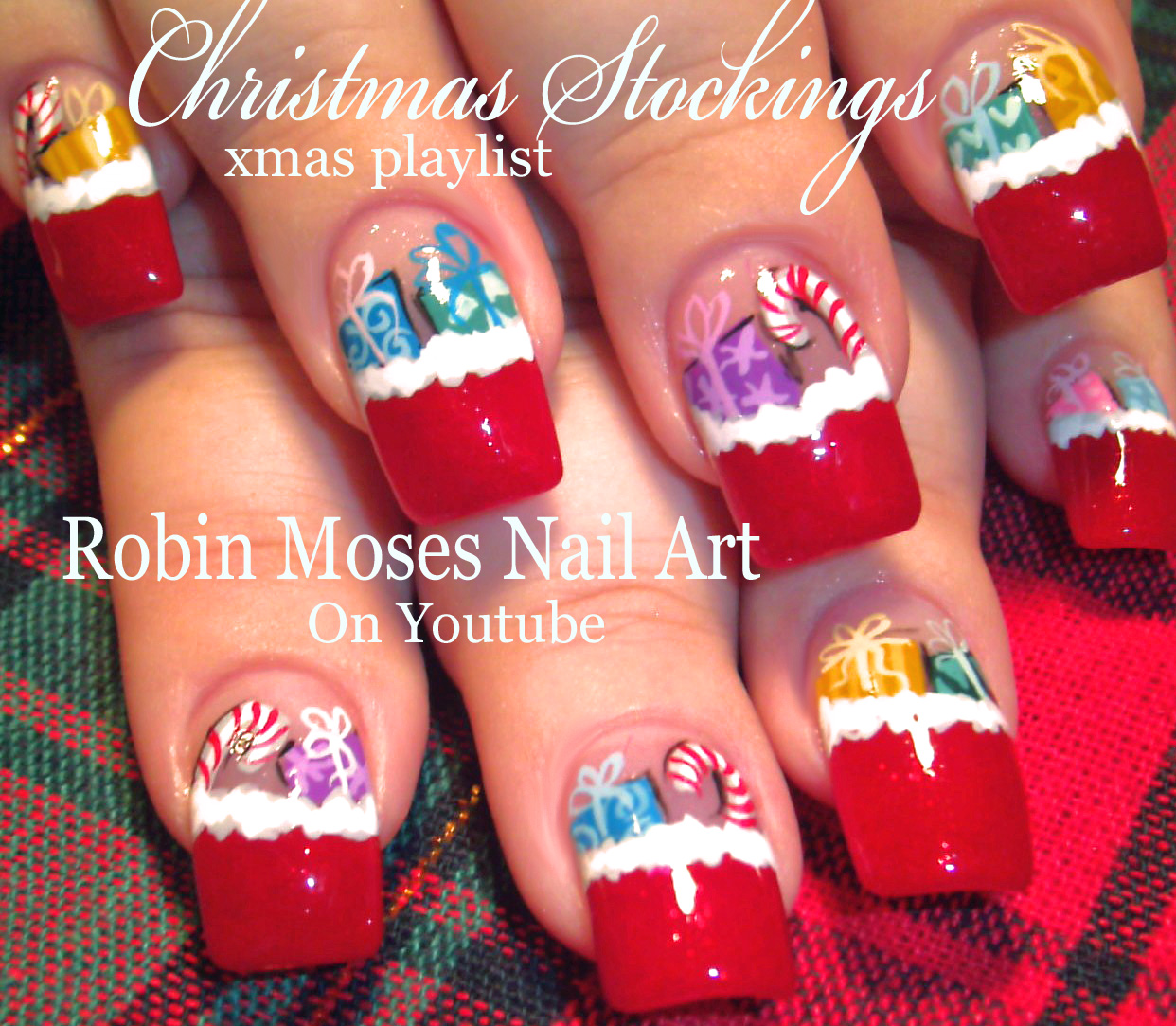 Nail Art By Robin Moses Christmas Mouse Christmas Design Cute