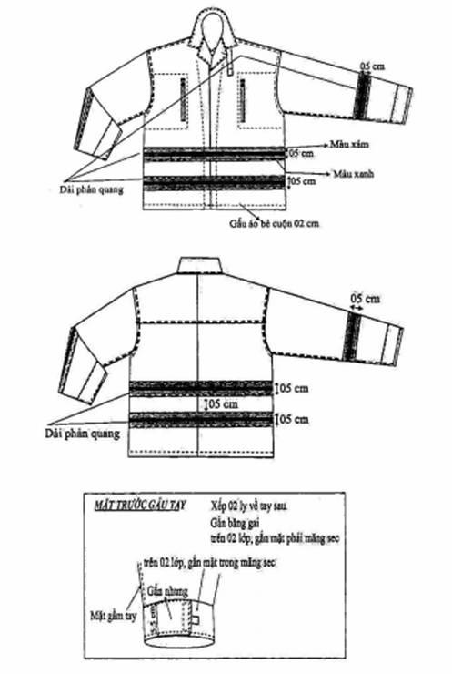chi tiết kỹ thuật áo chữa cháy