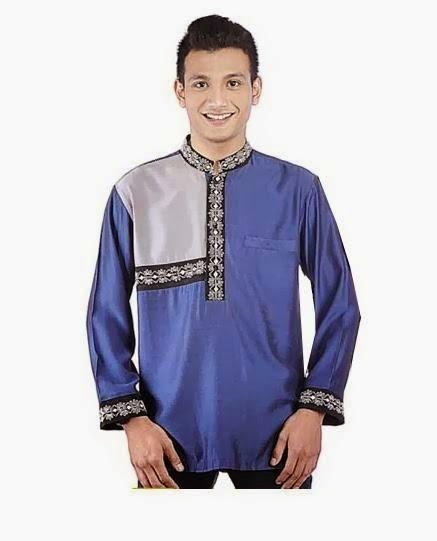 Model baju muslim pria terbaru kombinasi