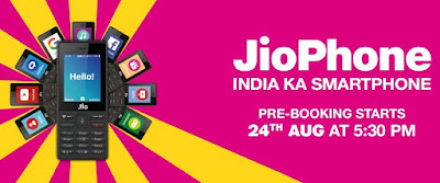 JioPhone Pre-booking starts at 5.30PM today , Here's How to Prebook , Full Specifications