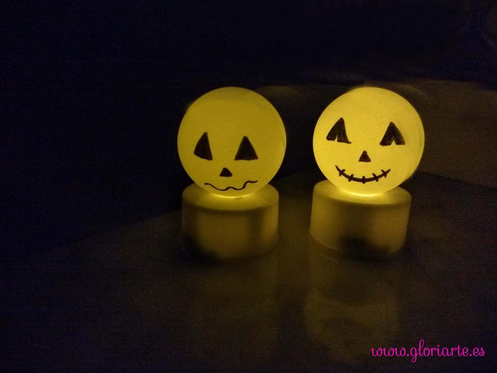 Bolitas Luminosas Fantasmas Para Decorar Halloween Gloriarte Crochet - Cosas-de-halloween-para-hacer-en-casa