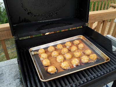 Cooking Meatballs on the Grill