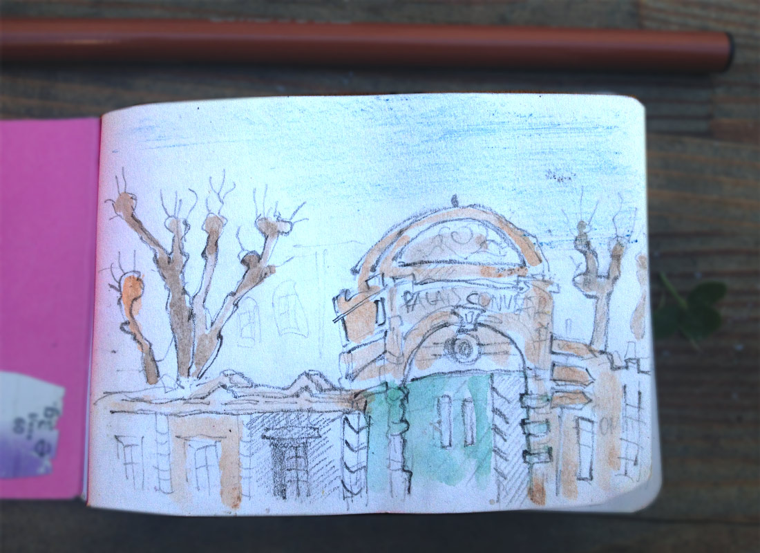 Toulouse, Watercolor Sketchbook
