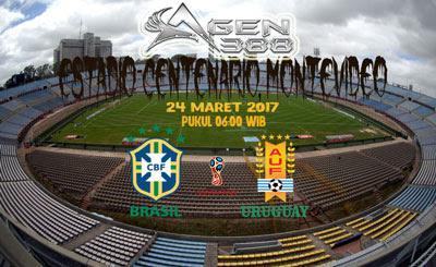 JUDI BOLA DAN CASINO ONLINE - PREDIKSI PERTANDINGAN KUALIFIKASI PIALA DUNIA 2018 URUGUAY VS BRASIL 24 MARET 2017