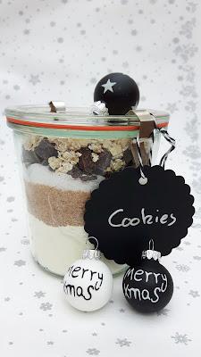 last-Minute-Geschenkidee: Cookie-Backmischung im Weck-Glas