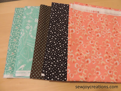 aquas browns and corals for quiltville mystery