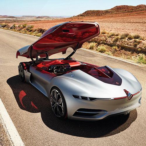 Tinuku Renault Trezor electric concept car sport stylish unveiled at Paris Motor Show 2016