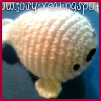 Mini foca amigurumi