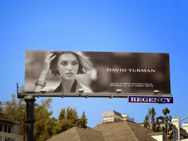 David Yurman Jewelry billboard May 2012