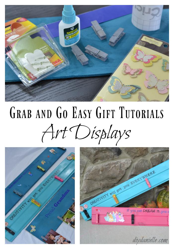 Easy DIY Art Displays Make Great Gifts!