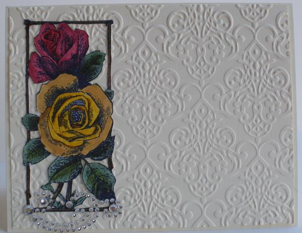 Frantic Stamper Happenings Two Roses Card Lis Whiting
