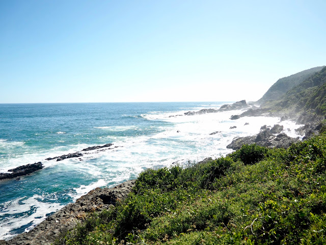 Coastal waterfall hike in Tsitsikamma National Park, Garden Route, South Africa
