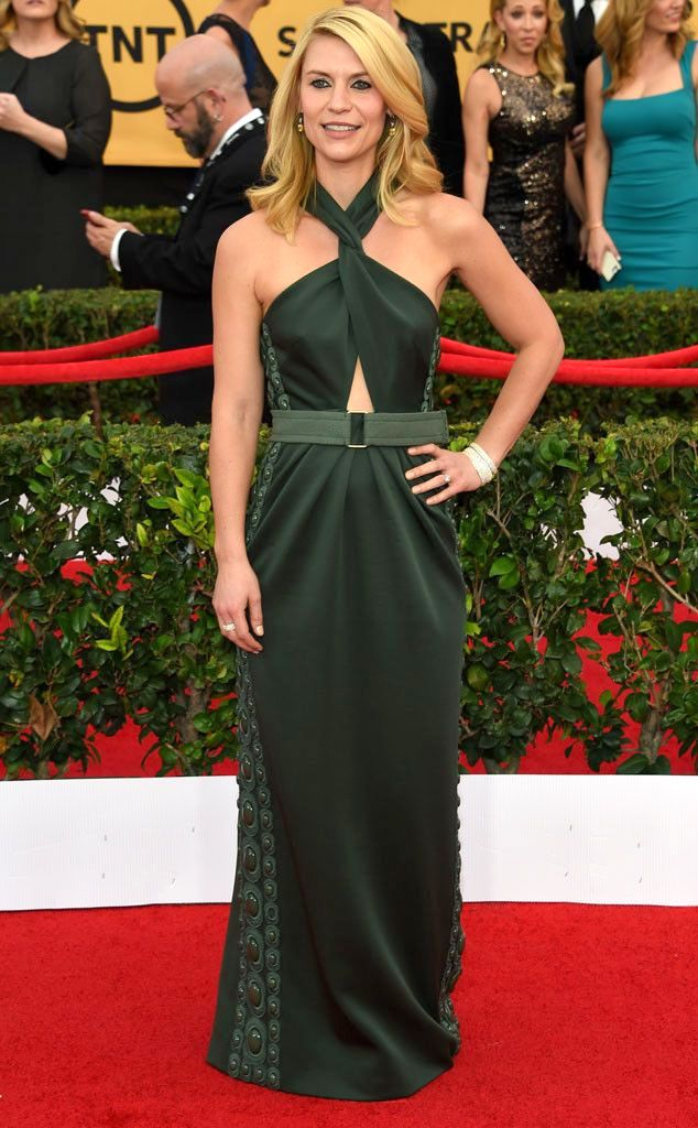 Claire Danes in a green Marc Jacobs dress the SAG Awards 2015