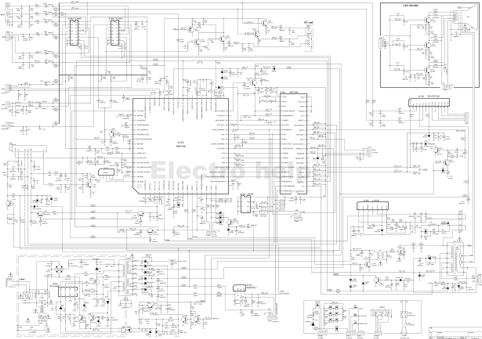 Re 40 7303 A Wiring Diagram 27 Images Crt Hyundai Td21p8 Tv Circuit Electro Help Basic Electrical Diagrams At Highcare