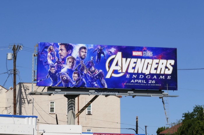 Avengers Endgame film billboard