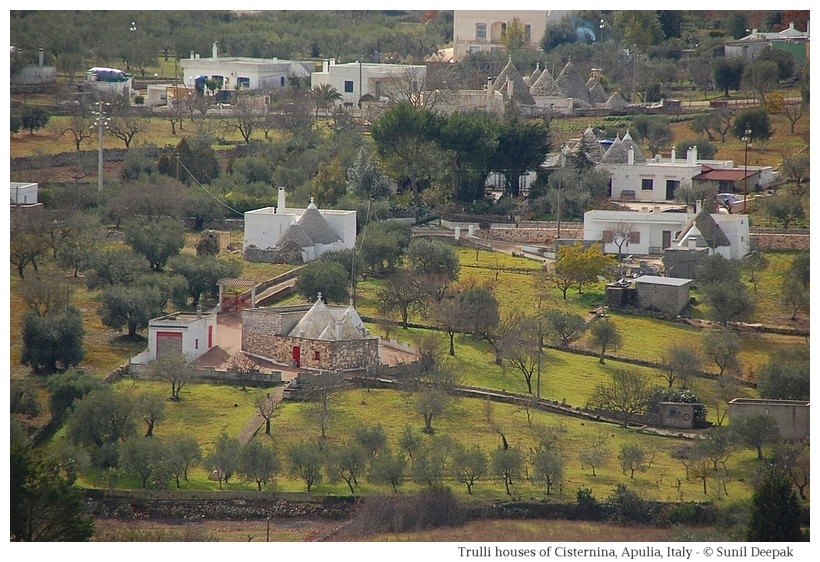 Trulli houses in Cisternino, Itria Valley - Photographs by Sunil Deepak