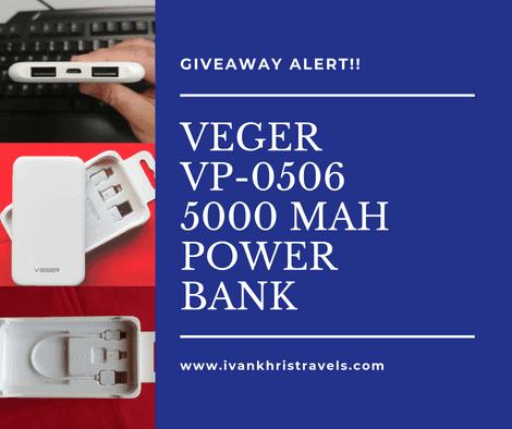 VEGER VP-0506 5,000 mAh power bank giveaway