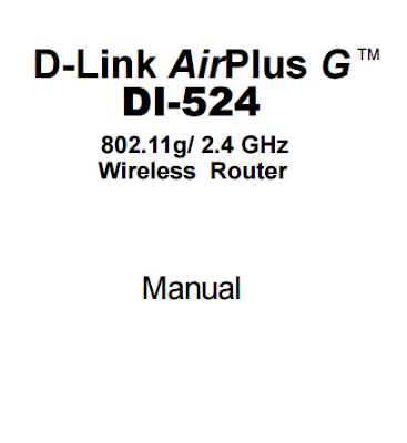D-LINK AIRPLUS G DI-524 MANUAL