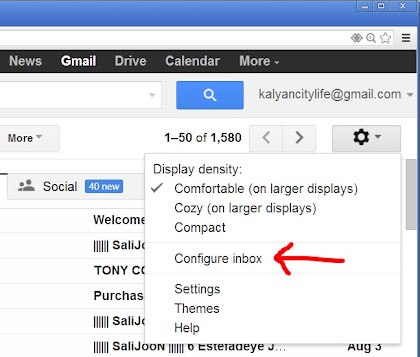 settings in gmail