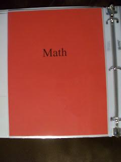 math binder tab - keep it simple!