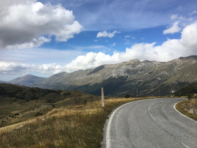 Road down from Campo Imperatore, in the Gran Sasso d'Italia mountain range