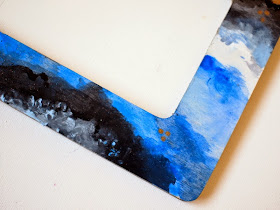 DIY Painted agate frame