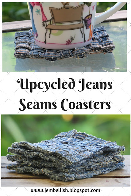 Woven Jeans Seams Coasters