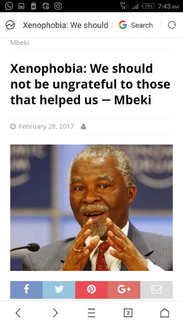 We ought to be grateful to Nigeria -Mbeki