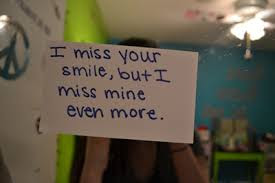 Smile Quotes images: i miss your smile, but i miss mine even more.