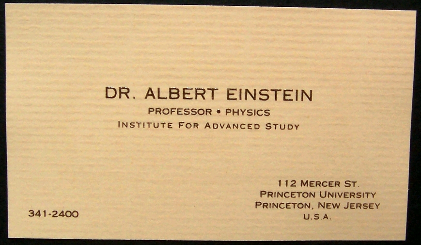 Tech media tainment business cards becoming passe replaced by linkedin ive included a few here including the first business card of microsoft co founder bill gates up top below are cards from albert einstein apples steve colourmoves
