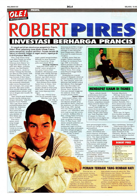 ROBERT PIRES PROFILE FRANCE