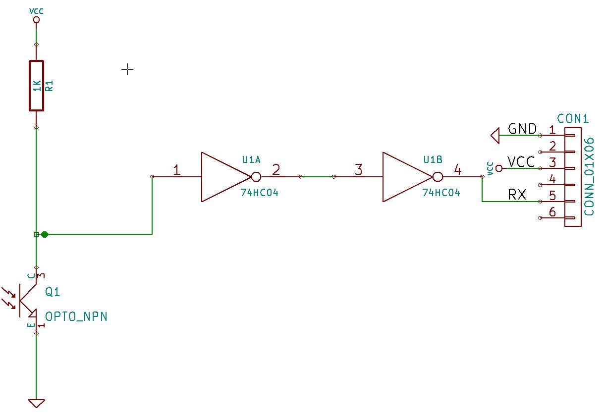 Schematic using logic gates