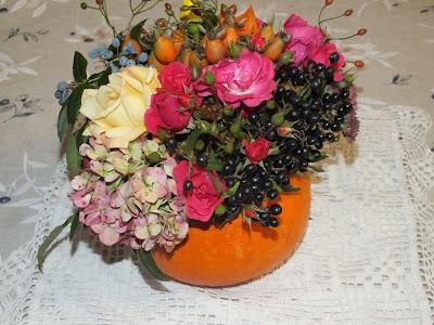 jesienny bukiet w dyni