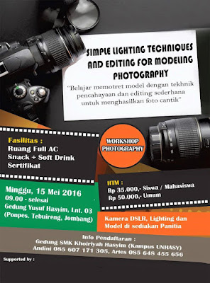 WorkShop Fotografi Lighting untuk foto model