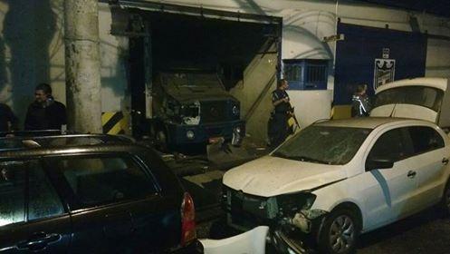 Marginais fortemente armados atacam a sede da Protege em Santo André no ABC