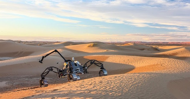 SherpaTT rover during Morocco field test. Credit: DFKI GmbH, Florian Cordes