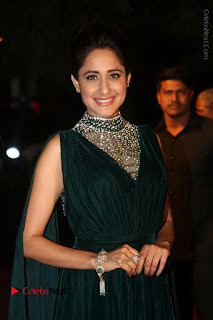 Actress Pragya Jaiswal Stills in Green Long Dress at Gemini TV Puraskaralu 2016 Event  0044.JPG