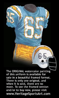 San Diego Chargers 1966 uniform