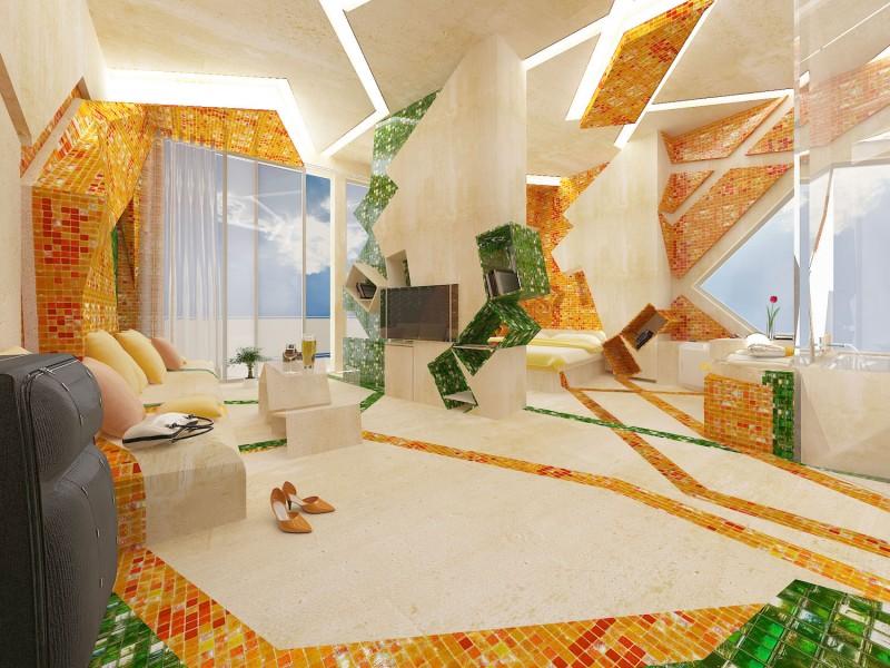 Hogares frescos incre ble dise o de un cuarto de hotel innovador en la pintura - Home decorating ideas clever and wacky solutions ...