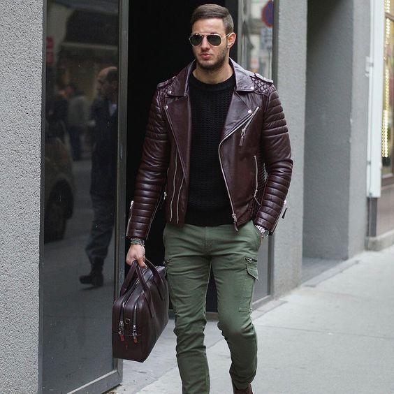 look com jaqueta marrom masculina , Jaqueta Masculina Inverno 2018